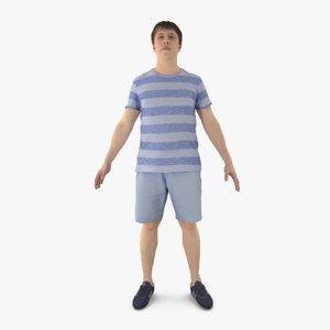 man casual human 3d model