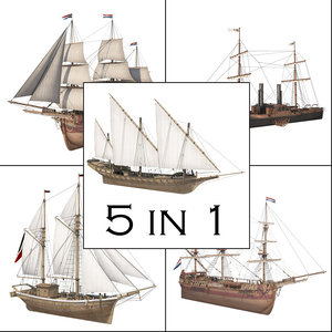 3D great ship model