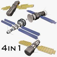 3D sci fi satellite