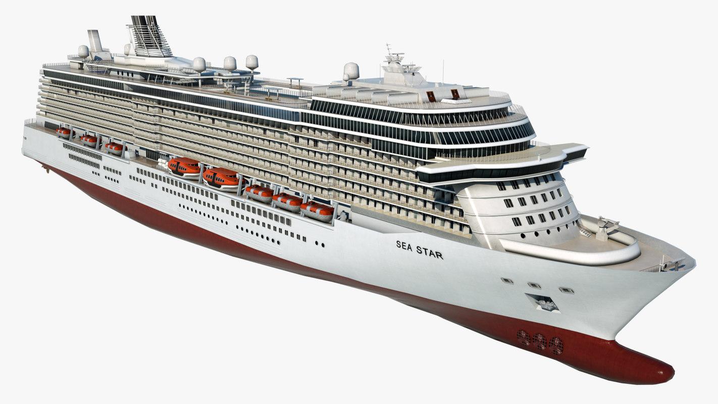cruise sea star ship 3D model