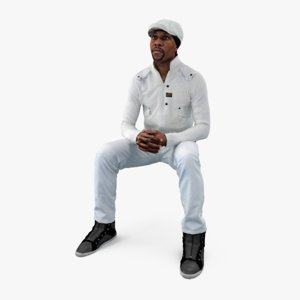 sitting man casual max