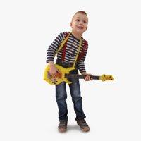 boy t guitar 3d model