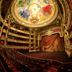 3D interior scene opera garnier