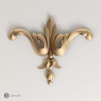 carved element 3d model
