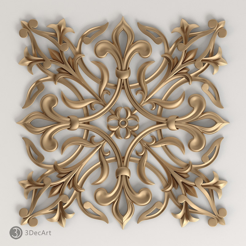 3d decorative onlay model