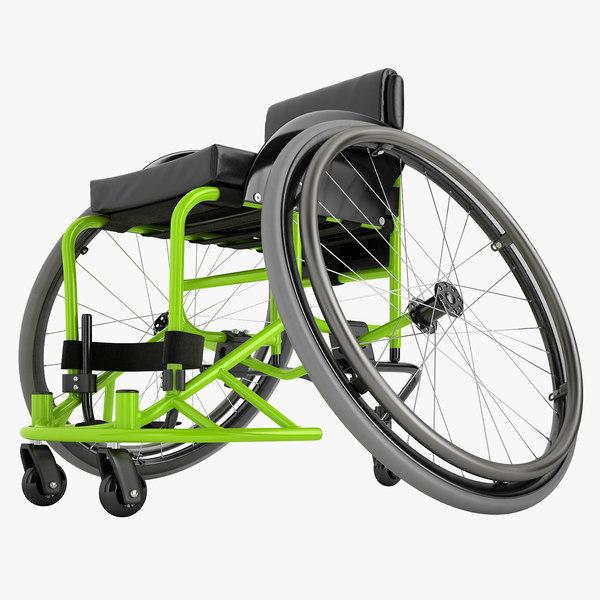 sport wheelchair 3D