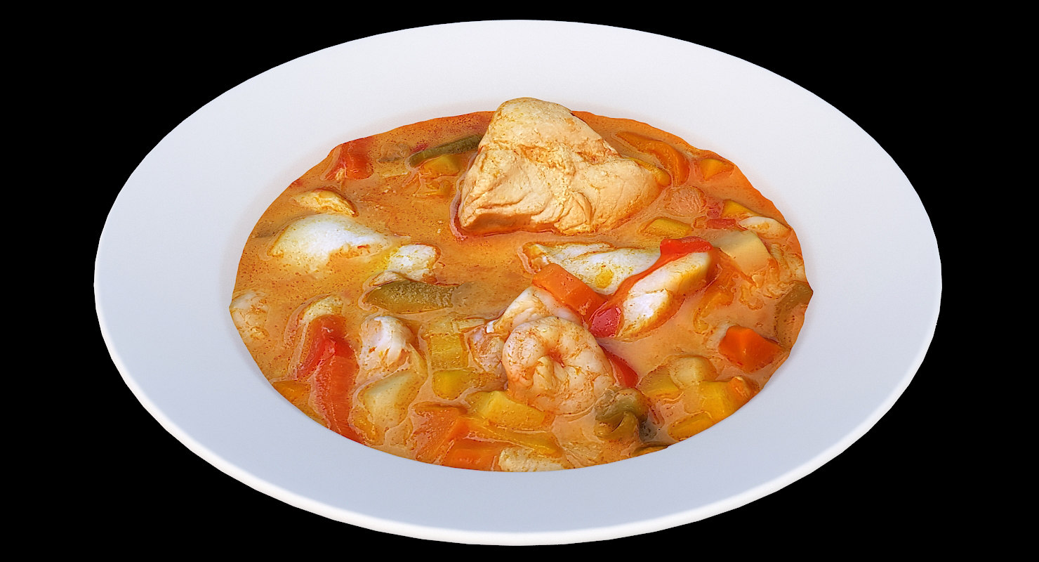 scan fish soup 3D