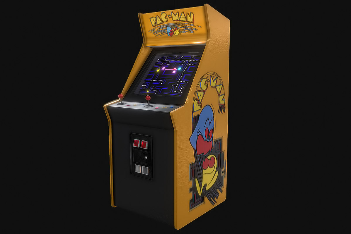 arcade machine 3D