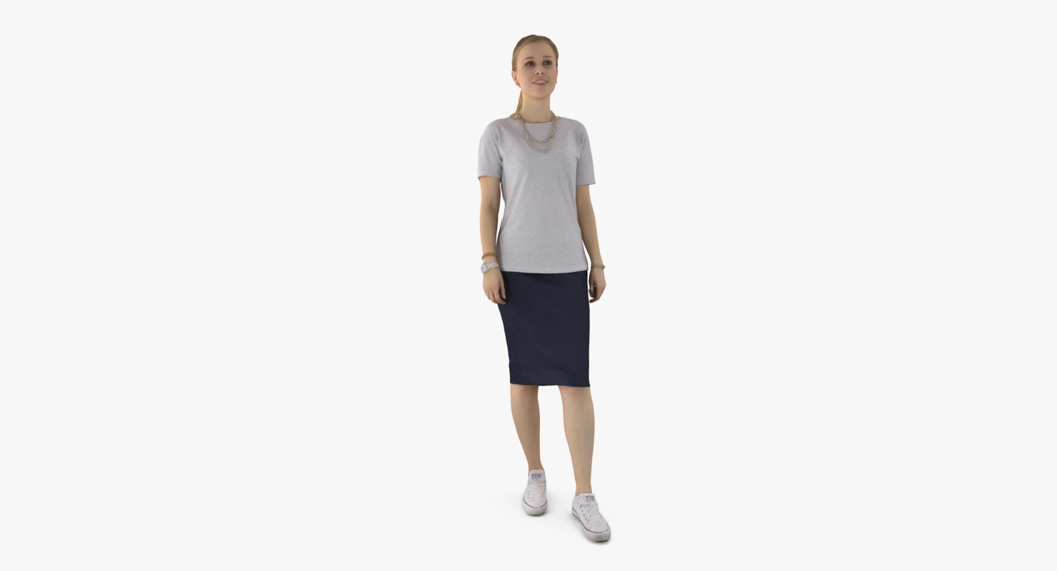 3d woman casual model