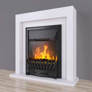 electric fireplace 3D model
