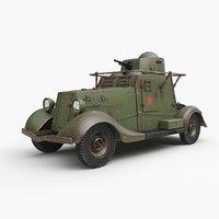 fai m armoured car 3D model