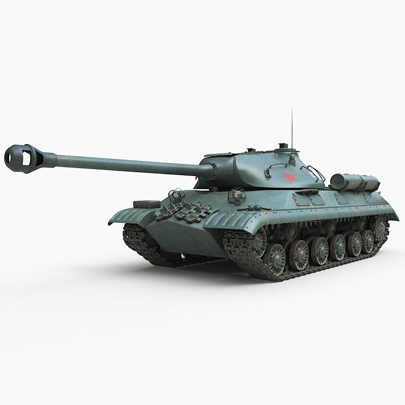 3D tank 3m soviet corona