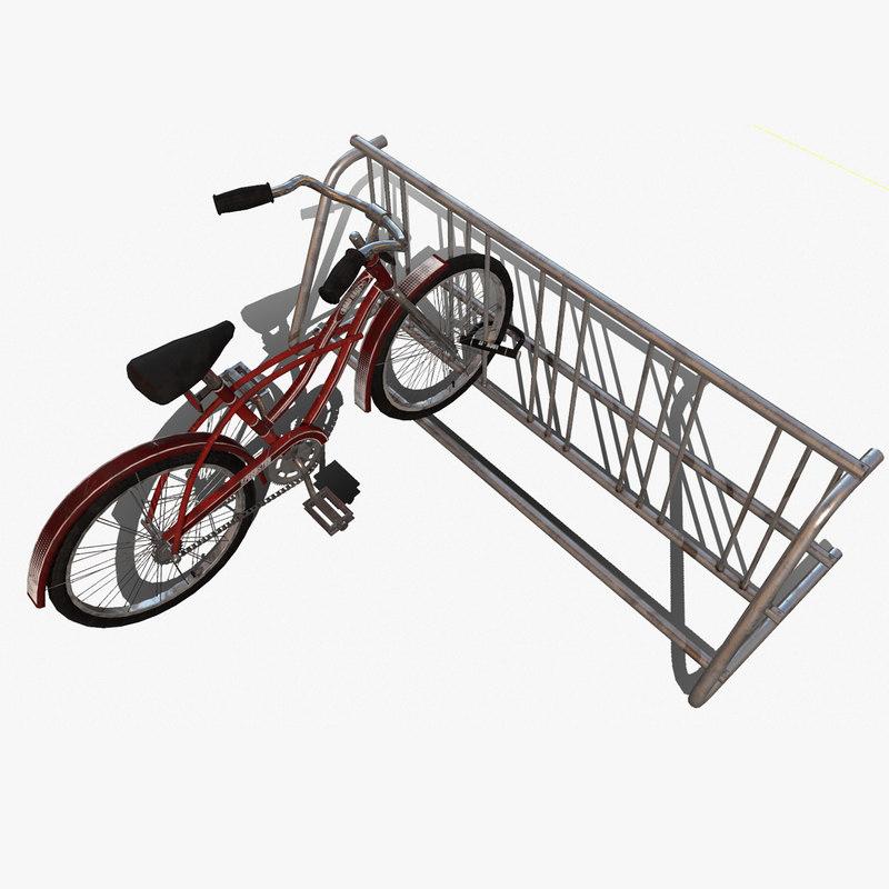 3d bicycle bike rack prop