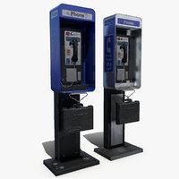 public phone 3d max