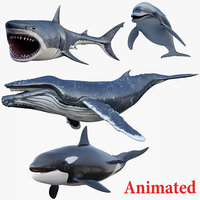 3D model set animals