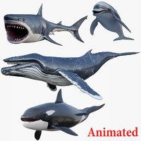 3D model set animals
