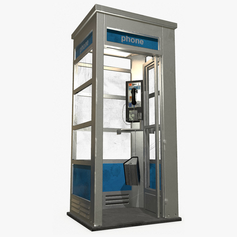 phone booth 3d model