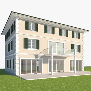 building house home 3d obj
