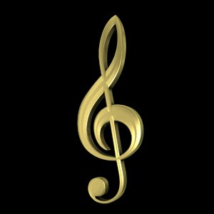 3d musical clef model