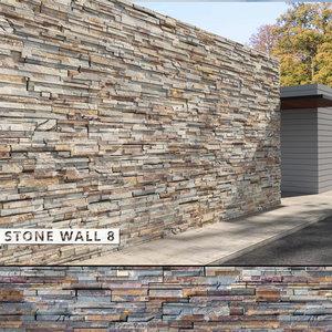 3D seamless stone wall 8