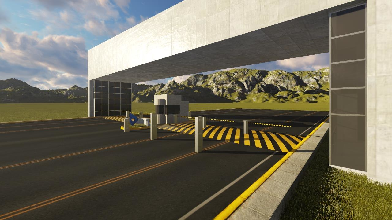 3D model entrance security cabin