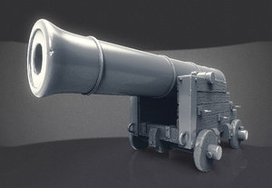 war cannon 3D model