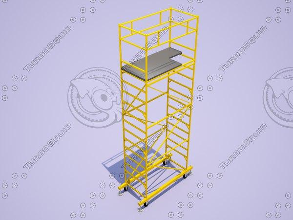 scaffolding 1x2m 3d model