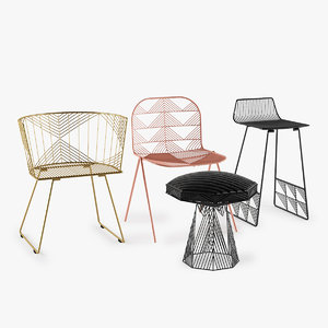 set chair 3d max