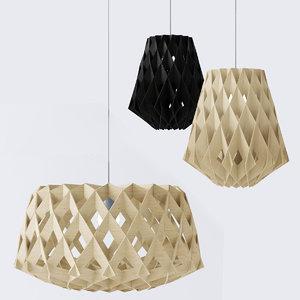 plywood lamps light 3d model