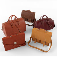 set leather bag 3d max