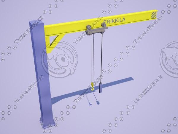 3d double-jib crane erikkila model