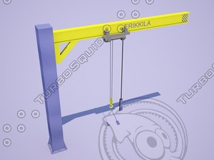 3d double-jib crane erikkila model