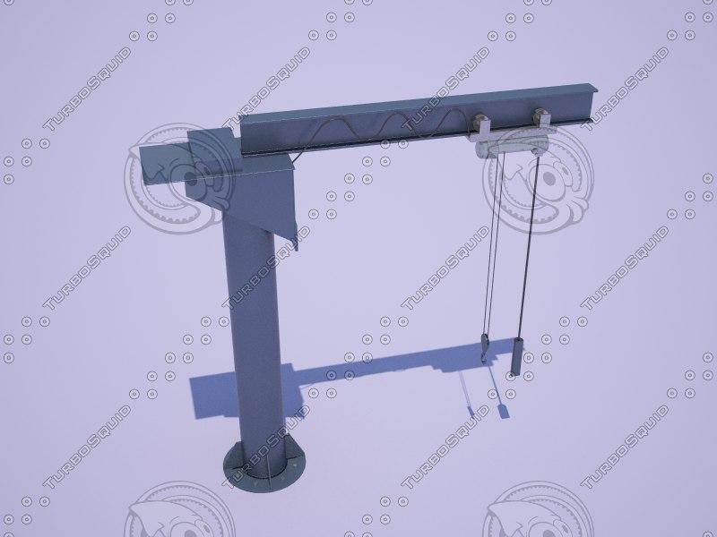 jib crane 3d max