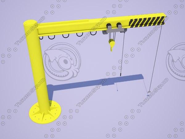 jib crane 3d model