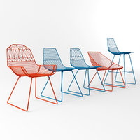 bend chairs set 3d model