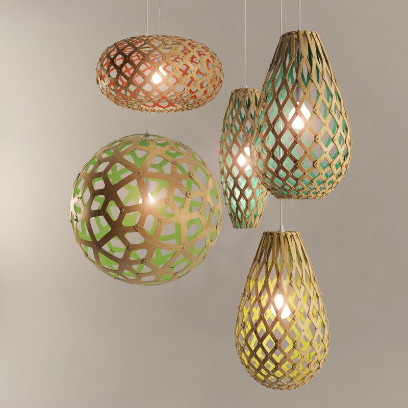 set coral pendant lamps max