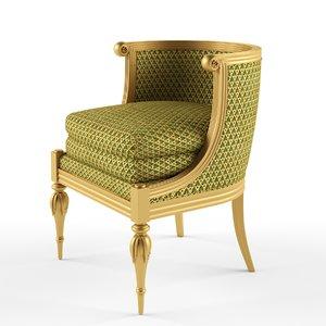 jonas gondola chair seat 3d model