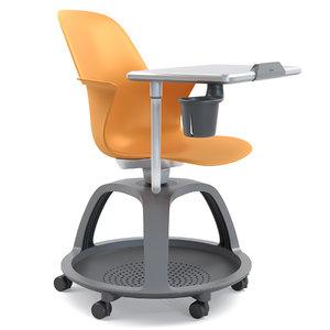 3D steelcase node school chair model