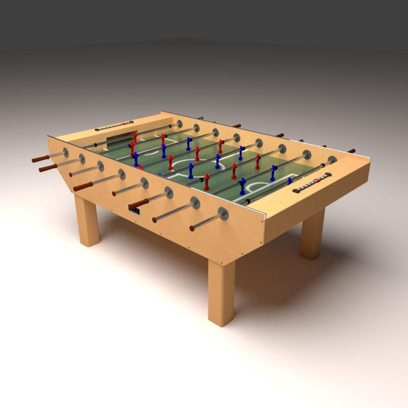 foosball table ball 3D