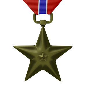 bronze star medal 3d model