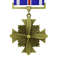 3d model distinguished flying cross