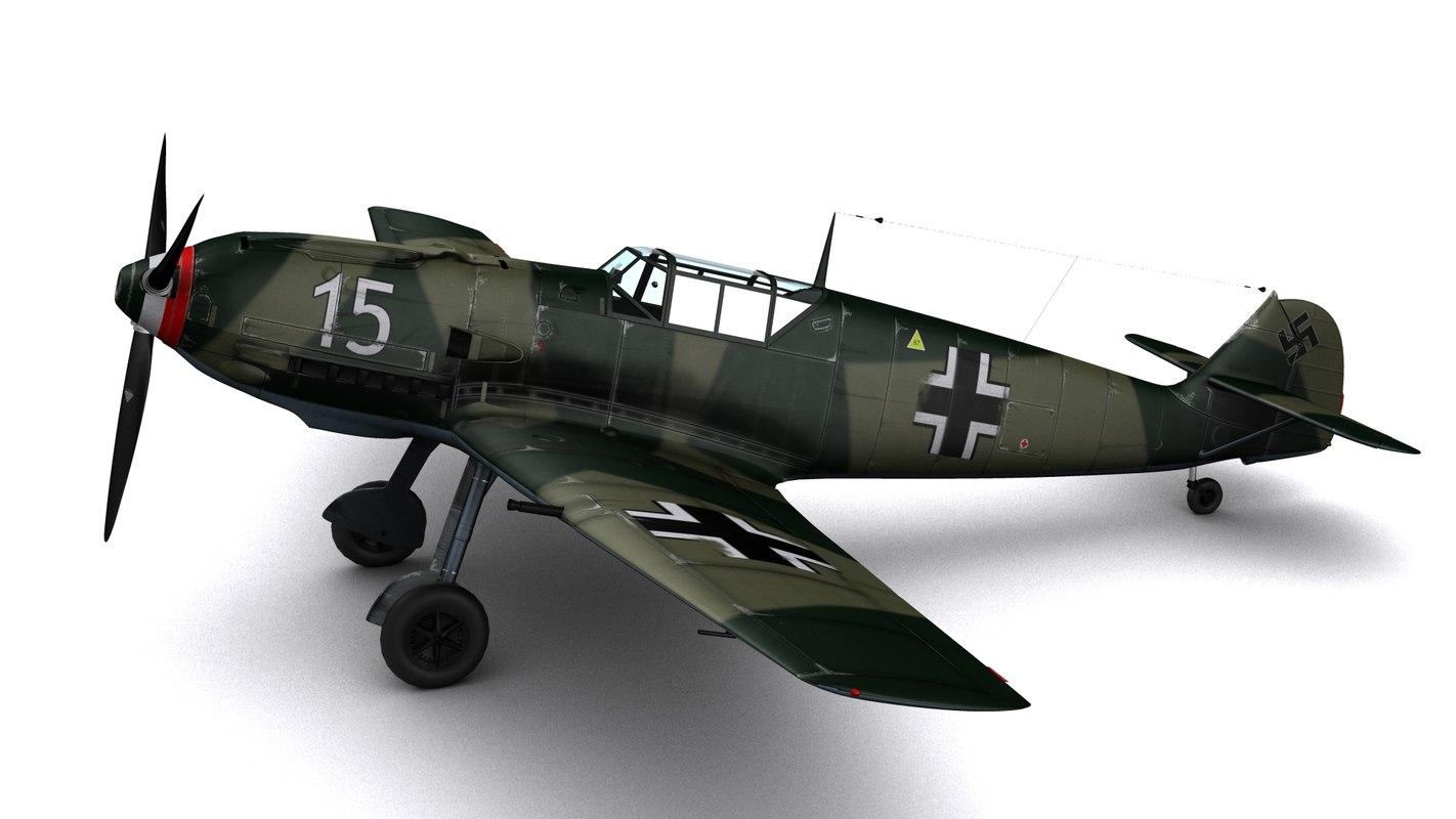 messerschmitt bf109-e3 bf109 fighters 3ds