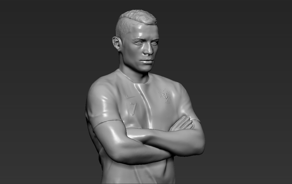3D model cristiano ronaldo ready printing