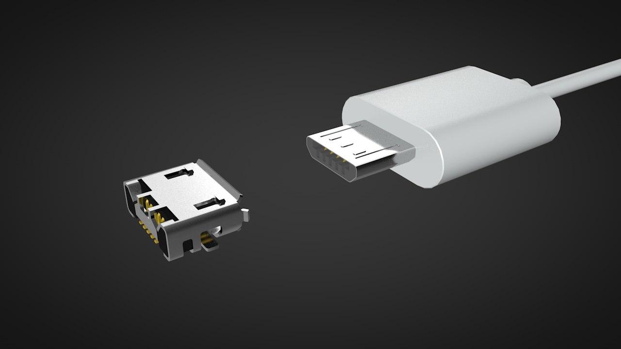 3D micro usb