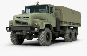 3d model truck 6x6