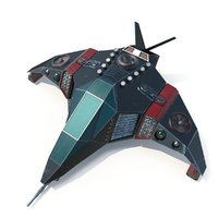 sci-fi space ship 3d max