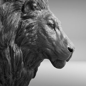 lion realistic 3D