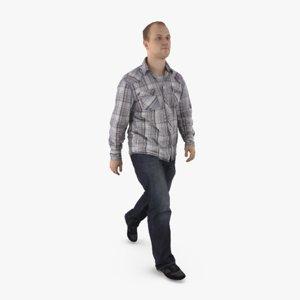 3d model casual man