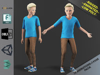 Cartoon Boy Motion Pack