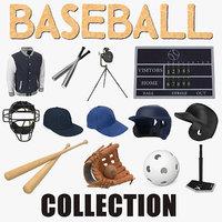 Baseball 3D Models Collection 7
